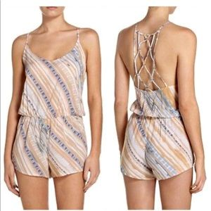 Dolce Vita Printed Cover Up Romper- ChicEwe